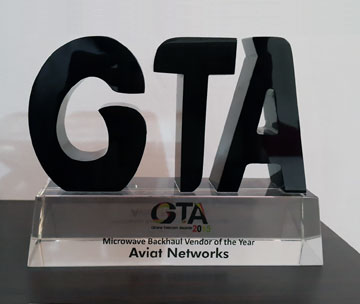 Aviat Networks wins best Microwave Backhaul Provider award in Ghana