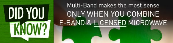 Did you know?...Multi-Band makes the most sense only when you combine E-Band with Licensed Microwave