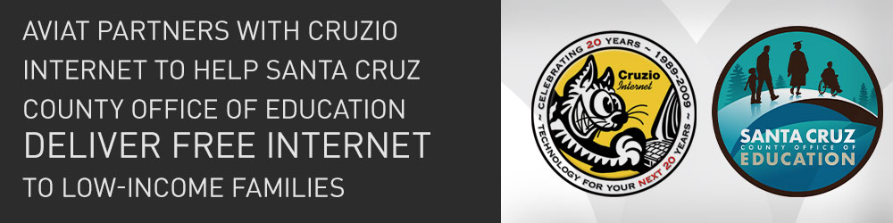 Aviat Partners with Cruzio Internet to Help Santa Cruz County Deliver Free Internet to Low-income Families