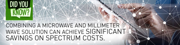 Did you know? ...combining a microwave and millimeter wave solution can achieve significant savings on spectrum costs