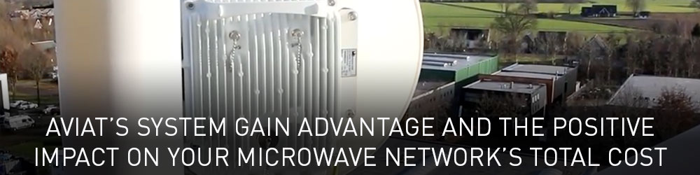 Aviat's System Gain Advantage and the Positive Impact on your Microwave Network's Total Cost of Ownership
