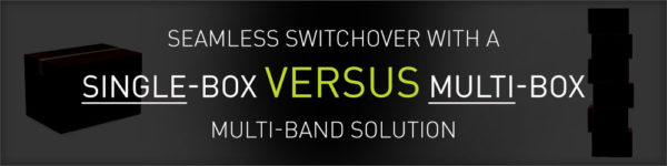 Achieve seamless switchover with single-box multi-band vs. multi-box multi-band