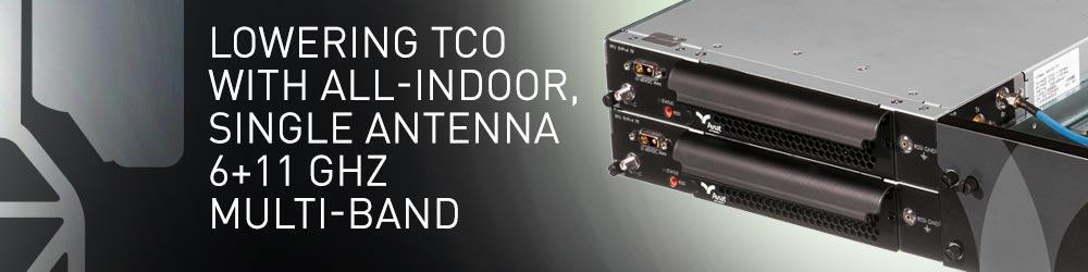 Lowering TCO with All-Indoor, Single Antenna 6+11 GHz Multi-Band