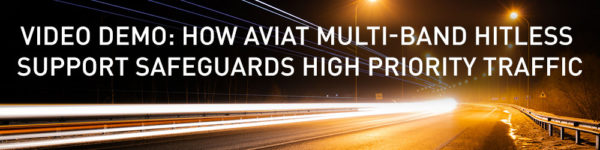 VIDEO DEMO: How Aviat Multi-Band Hitless Support Safeguards High Priority Traffic