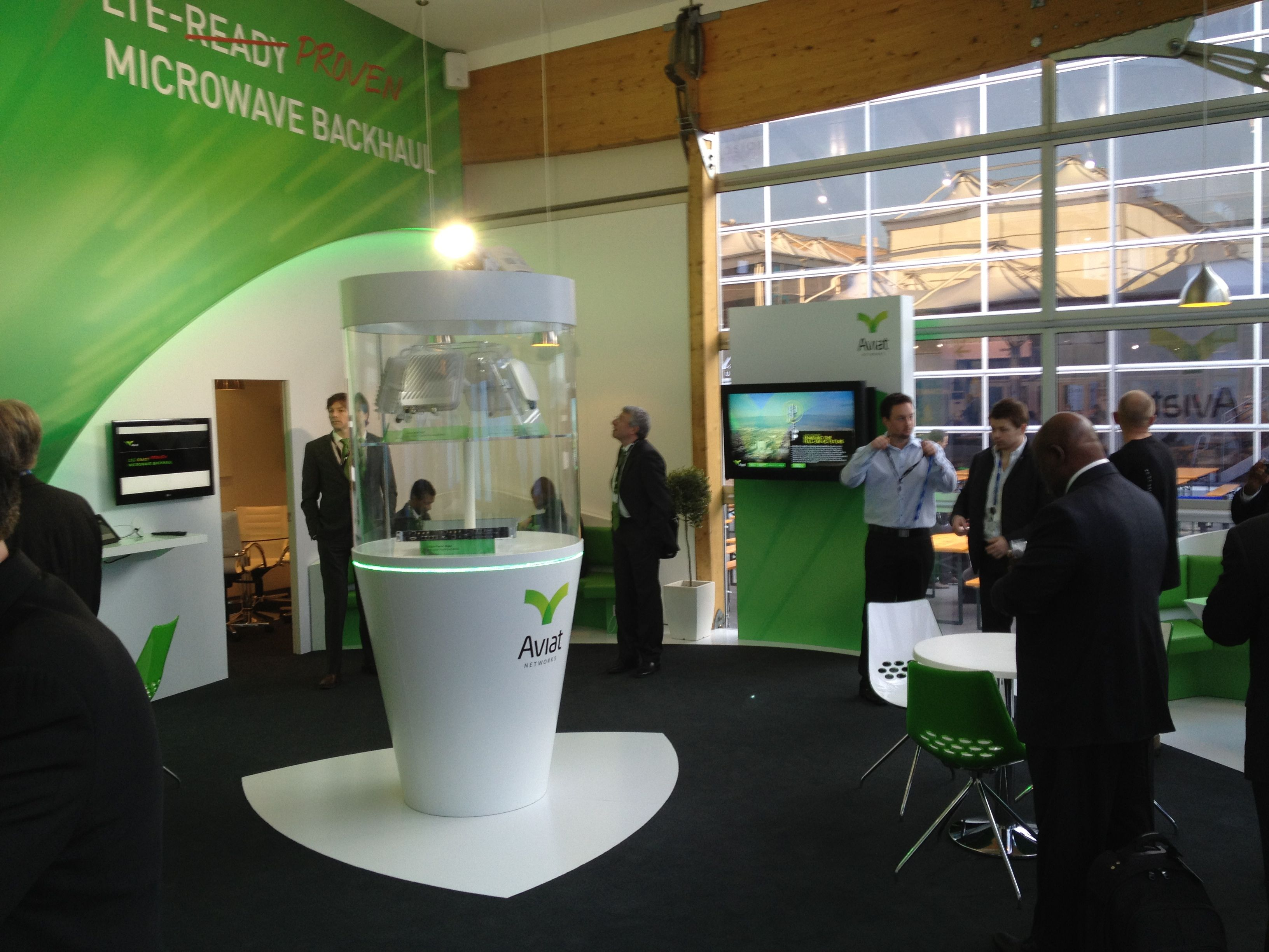 Aviat Networks Booth at MWC 2012