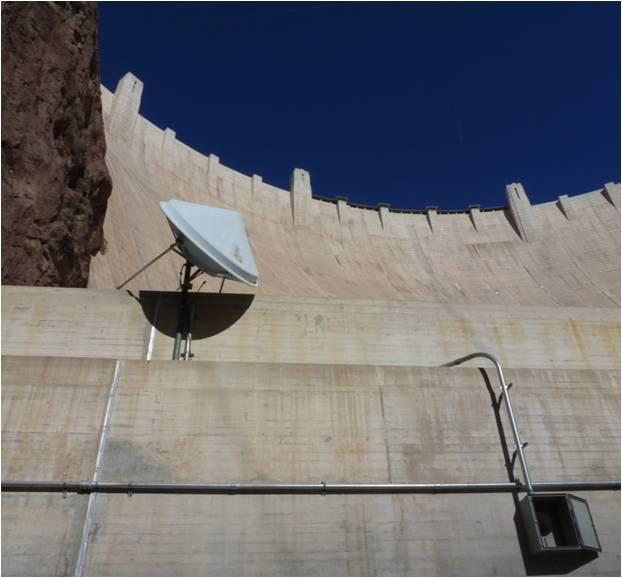 Aviat microwave radio at Hoover Dam in the Grand Canyon National Park, Arizona.