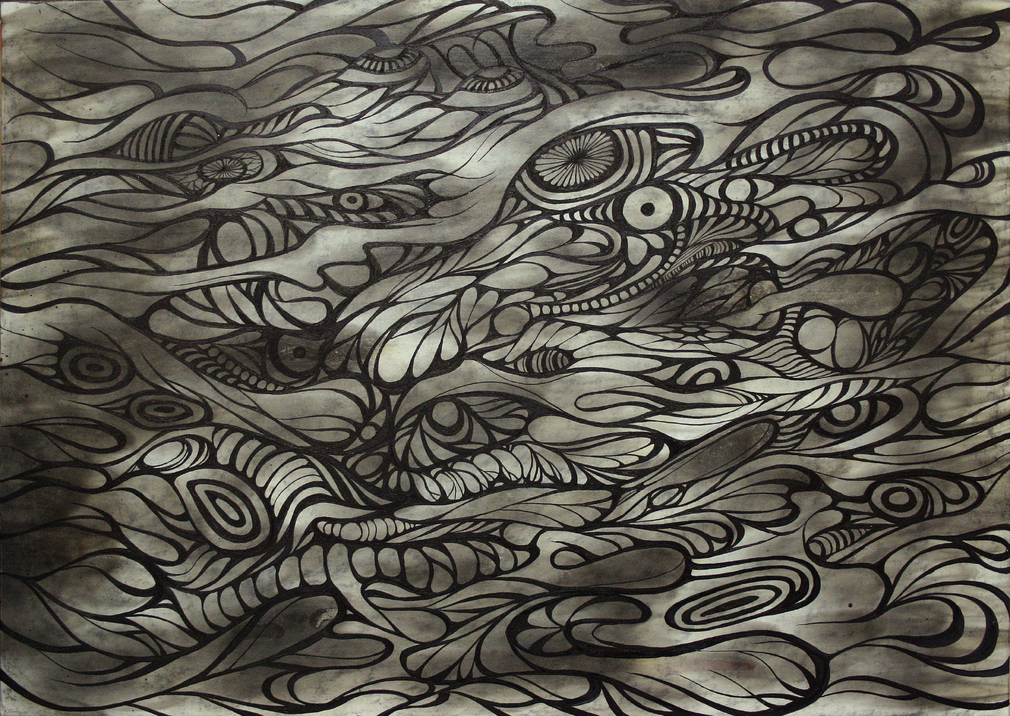 [潛伏Latency] Charcoal, watercolor, fire on paper, 2011. Photo credit: RedPapaya (栩) / Foter / CC BY-NC-ND